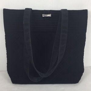 Vera Bradley Solid Black quilted tote bag shopper
